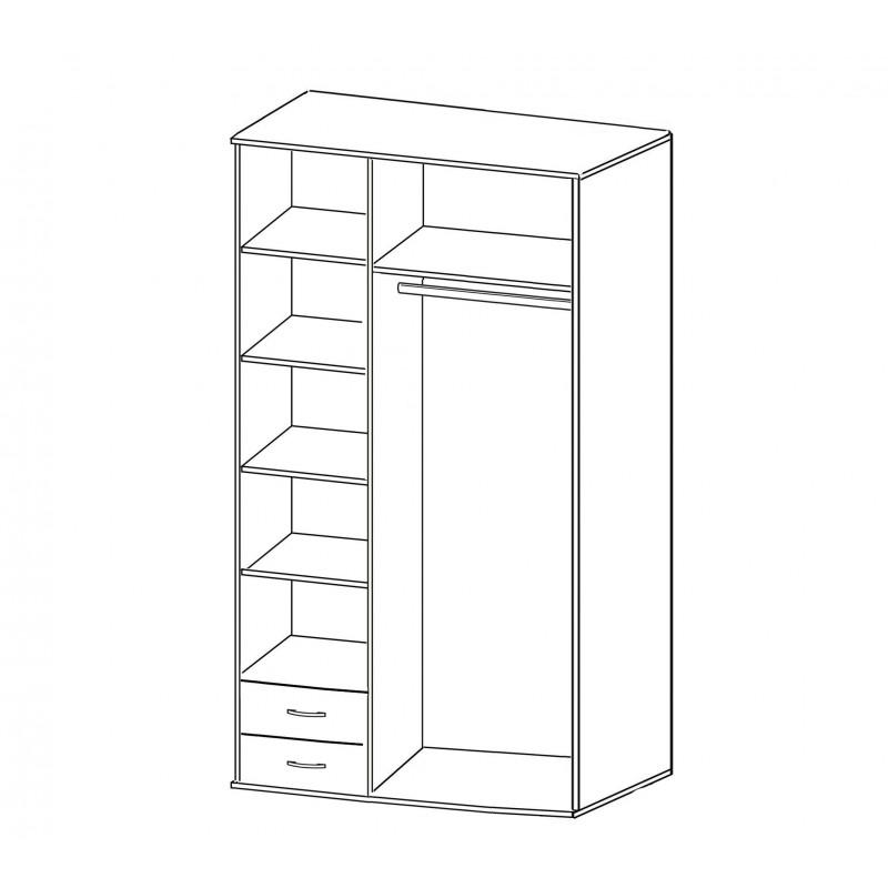 Шкаф распашной РИО-3.3 (фото 2)