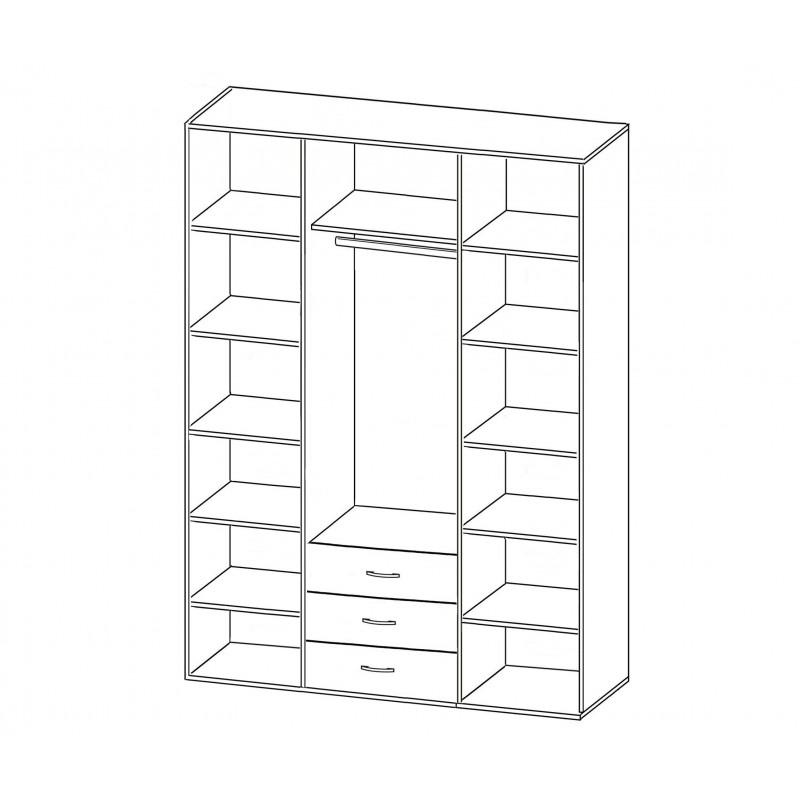 Шкаф распашной РИО-4.8 (фото 2)