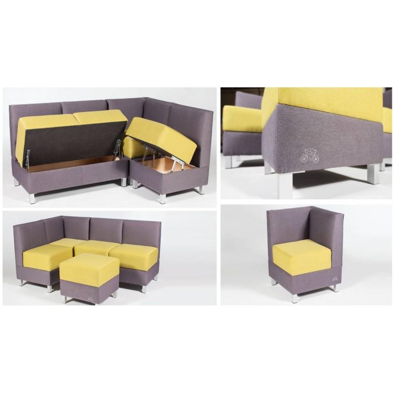 Угловой модульный диван Лион (фото 2)