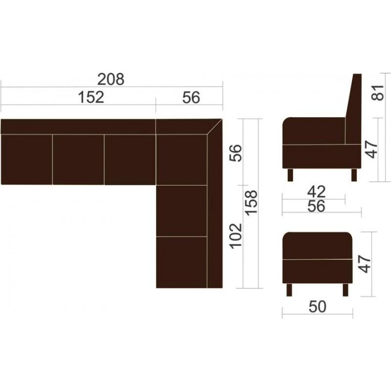 Угловой модульный диван Лион (фото 4)