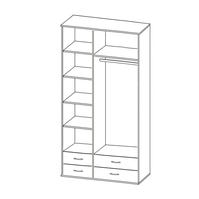 Шкаф Зодиак 3.24 с антресолью (фото 2)