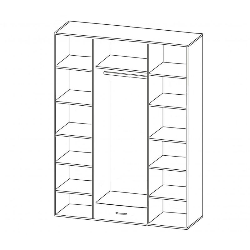 Шкаф распашной РИО-4.6 (фото 2)