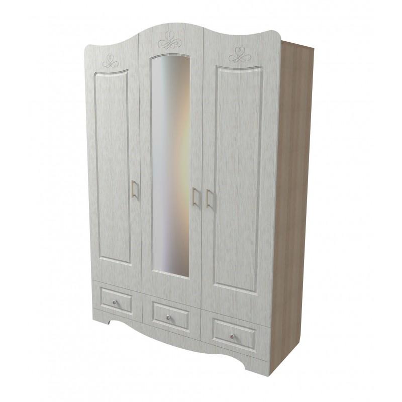Шкаф для одежды и белья трехстворчатый Купидон