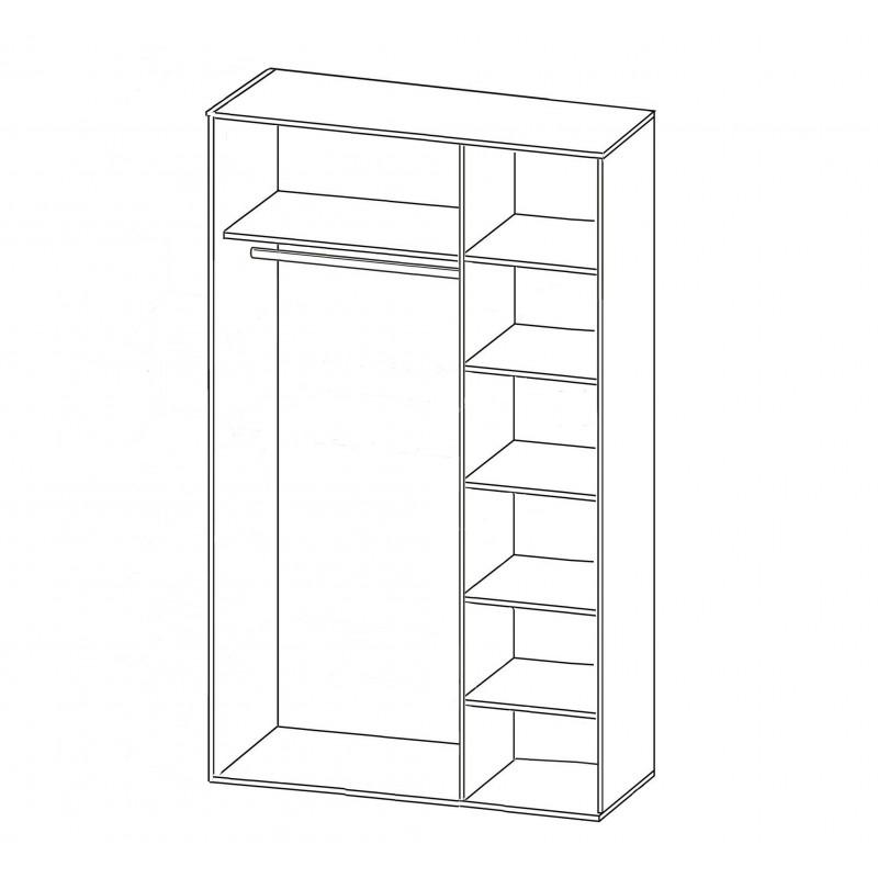 Шкаф распашной РИО-3.1 (фото 2)