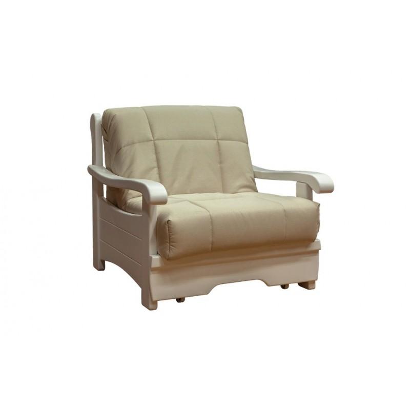 Кресло-кровать Рея с деревянными подлокотниками м112