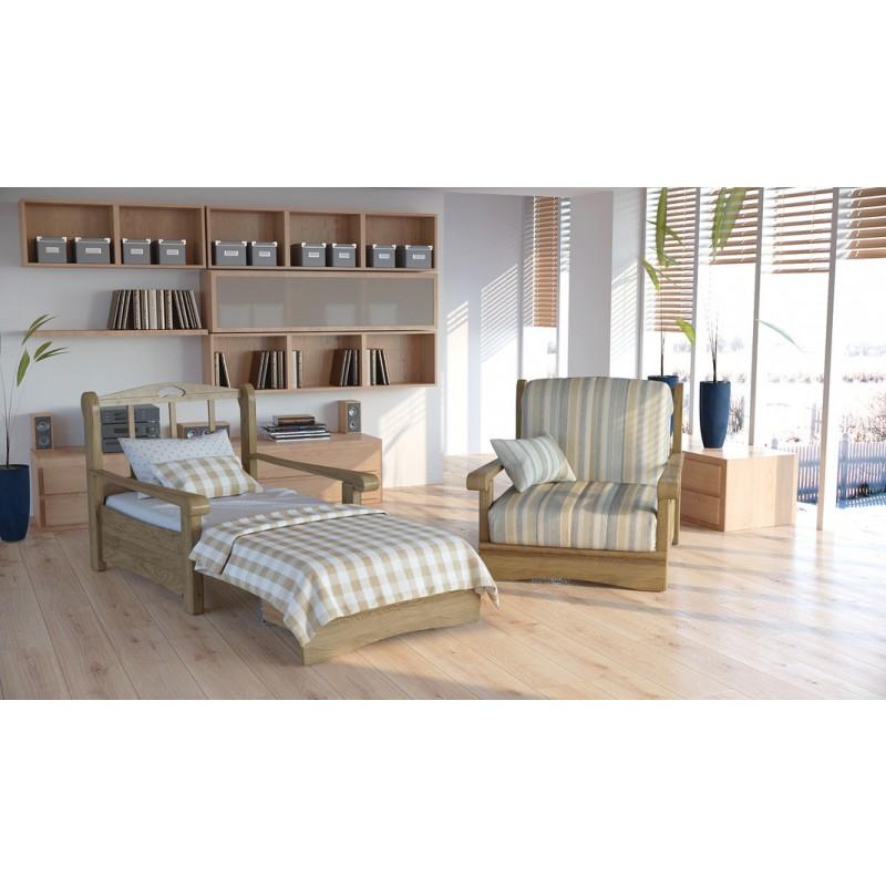 Кресло-кровать Рея с деревянными подлокотниками м112 (фото 3)