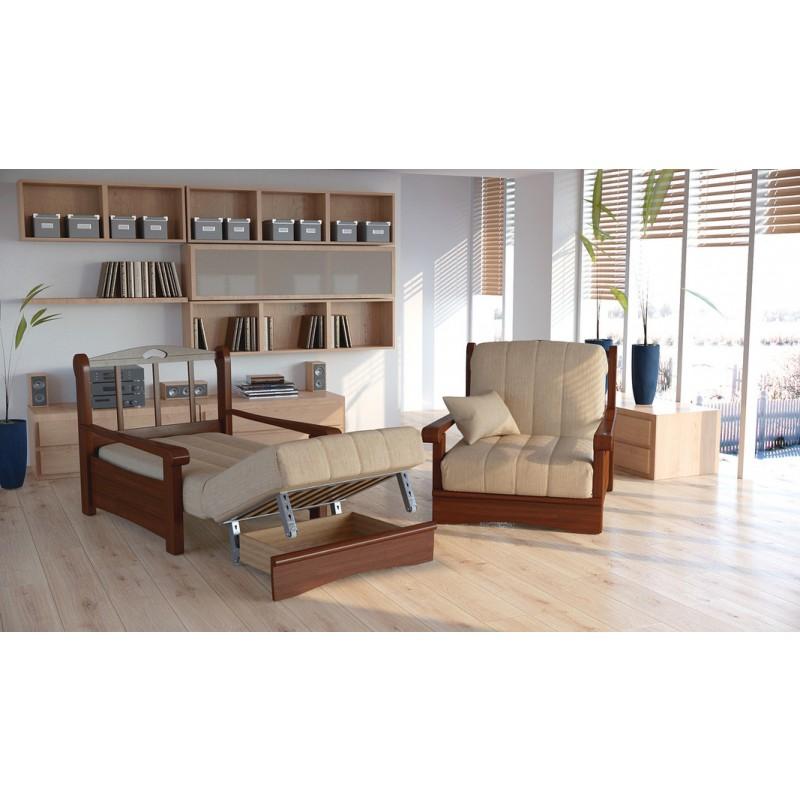 Кресло-кровать Рея с деревянными подлокотниками м112 (фото 4)