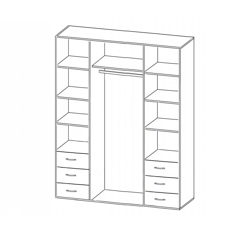 Шкаф распашной РИО-4.4 (фото 2)