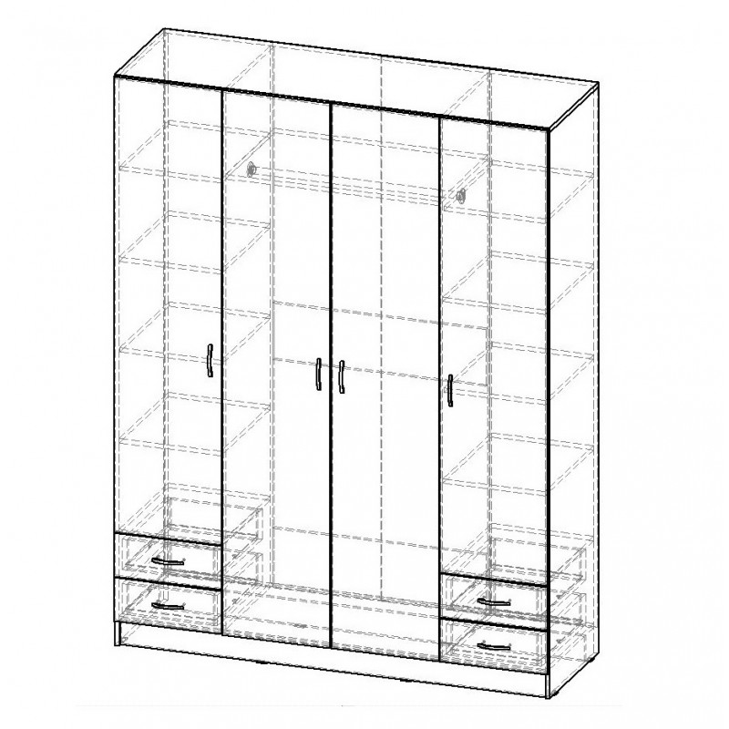 Шкаф распашной РИО-4.3 (фото 3)