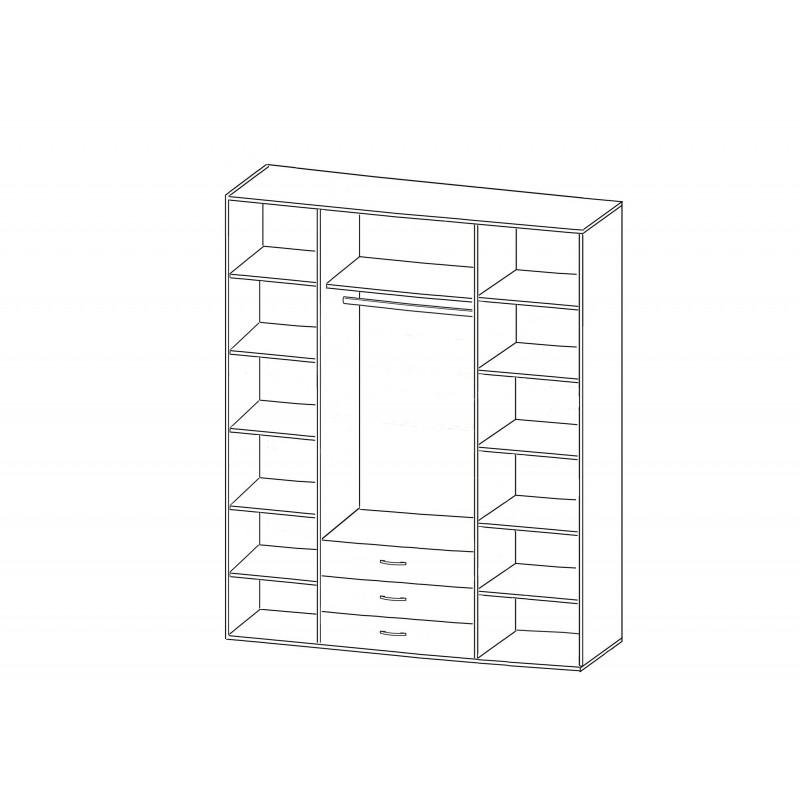 Шкаф Зодиак 4.23 с антресолью (фото 2)