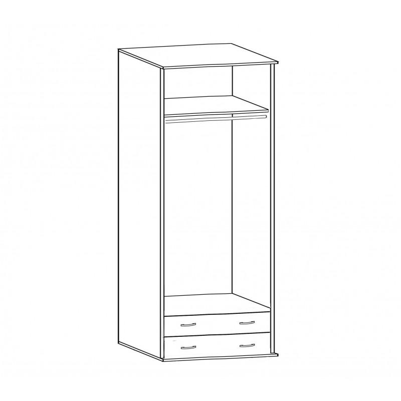 Шкаф Зодиак 2.2 с антресолью (фото 2)