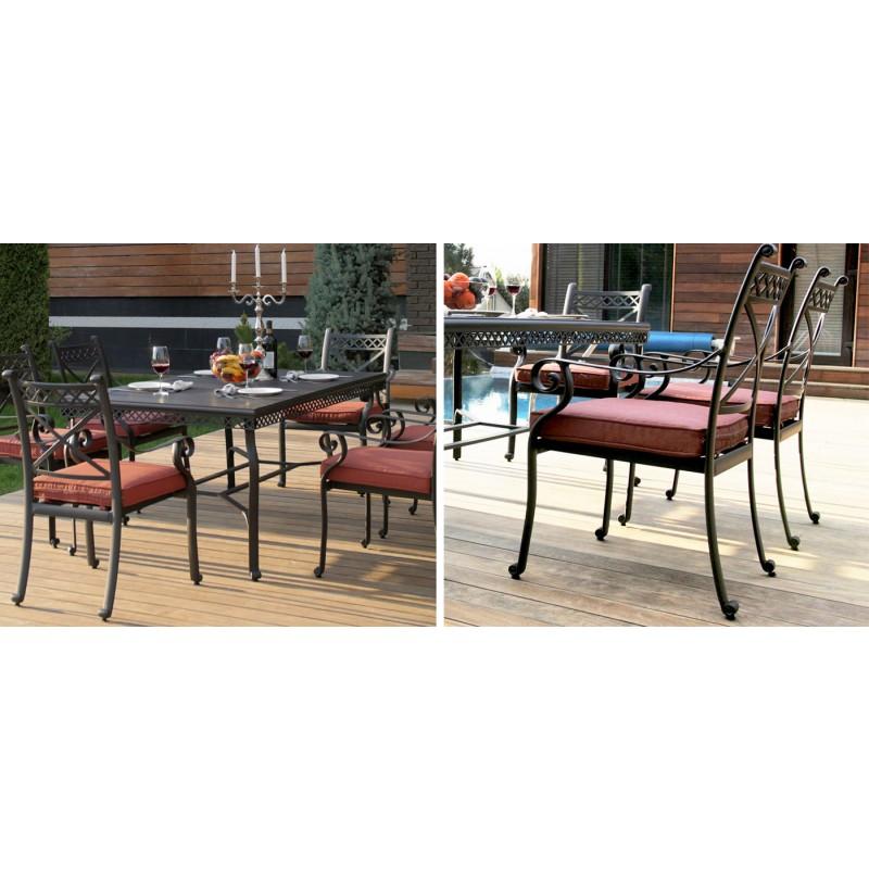 Комплект мебели из литого алюминия Сицилия (фото 4)