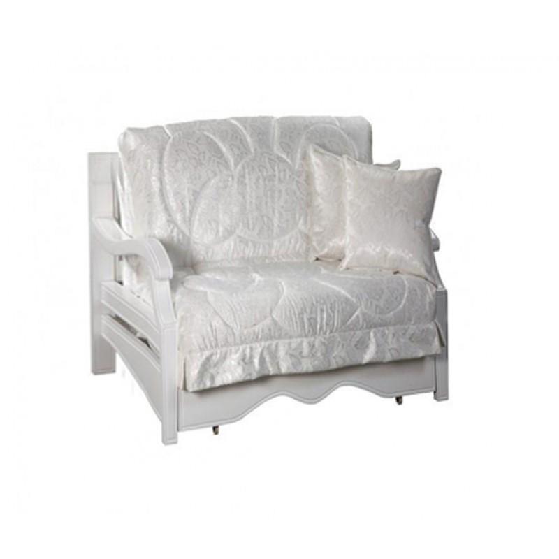 Кресло-кровать Тефия с деревянными подлокотниками