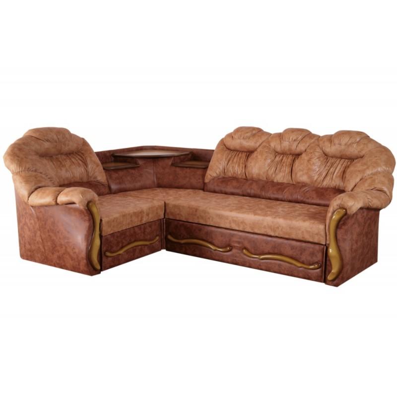 Угловой диван Мираж с полкой