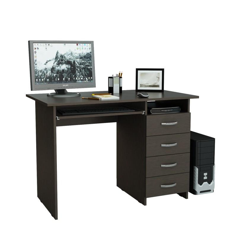 Компьютерный стол Милан-3 с надставкой и колонкой (фото 5)