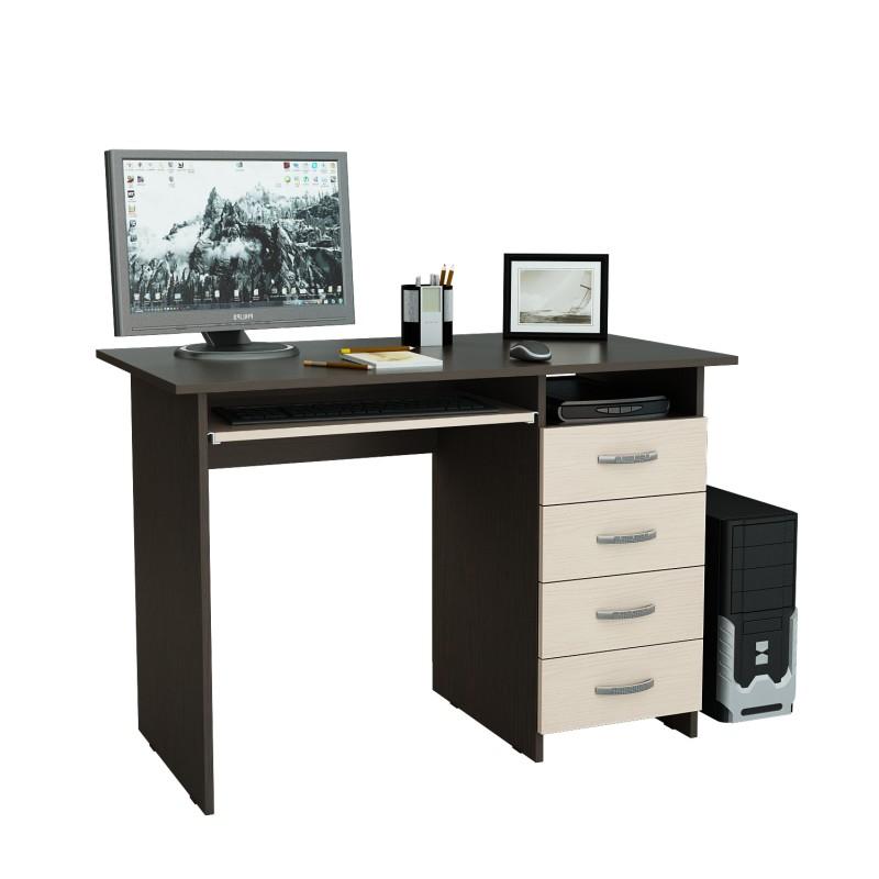 Компьютерный стол Милан-3 с надставкой и колонкой (фото 6)