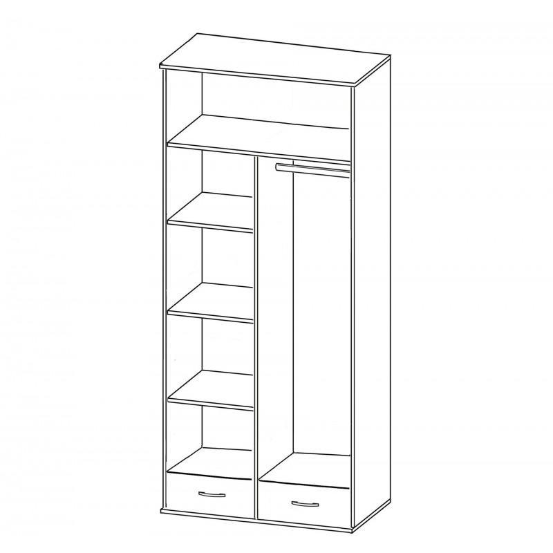 Шкаф для одежды и белья двухстворчатый Купидон (фото 2)