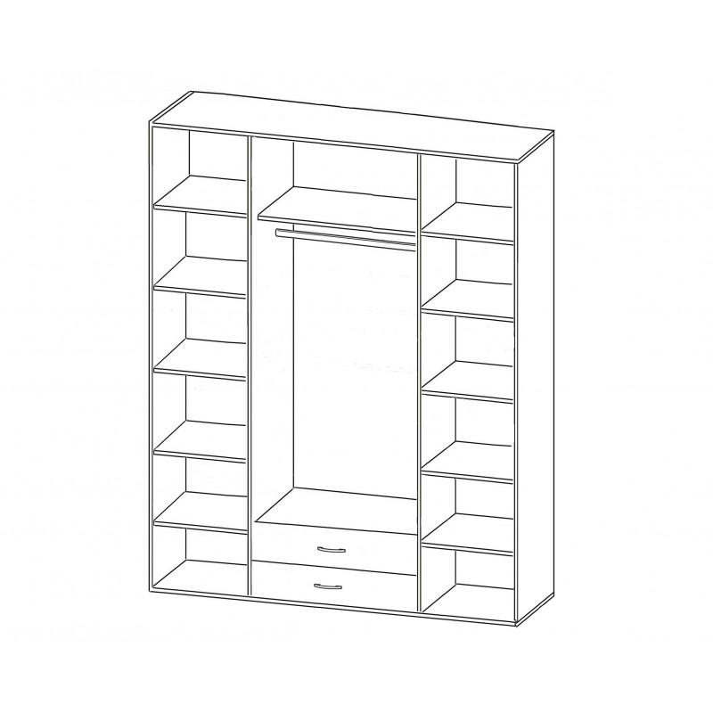 Шкаф распашной РИО-4.7 (фото 2)