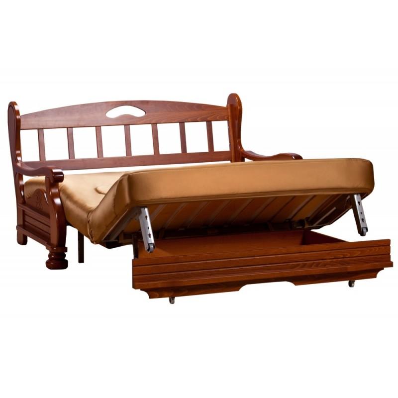 Комплект мягкой мебели Милан с деревянными подлокотниками (фото 5)