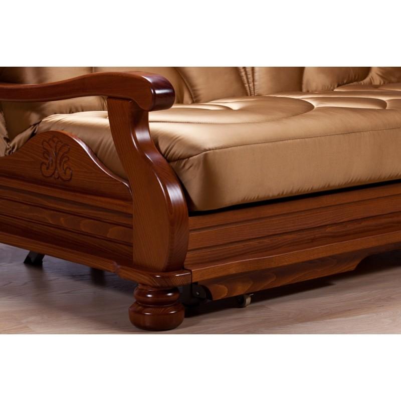 Комплект мягкой мебели Милан с деревянными подлокотниками (фото 6)