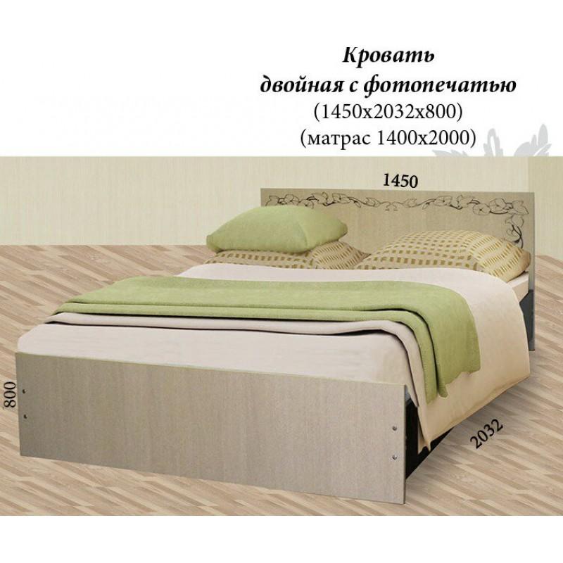 Кровать двойная с фотопечатью (фото 3)