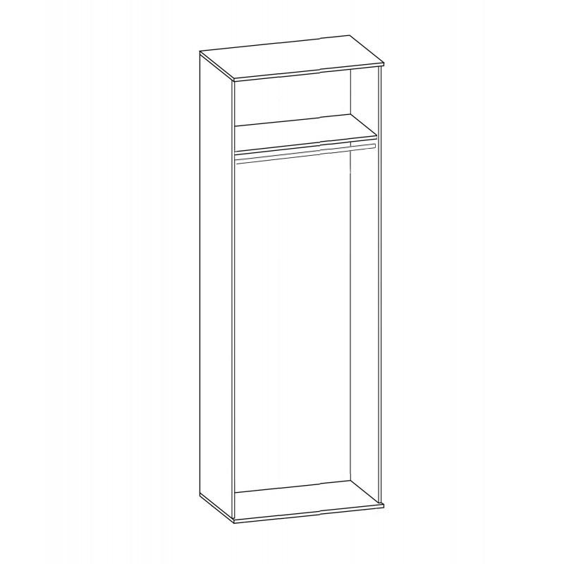 Шкаф Горизонт 2-х дверный со штангой (фото 3)