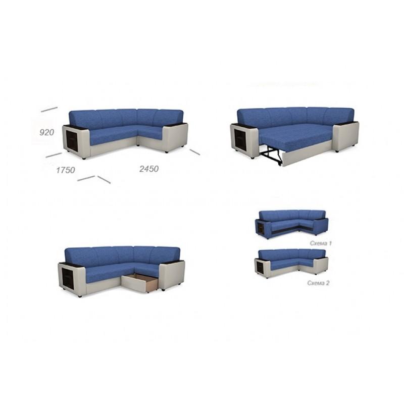 Угловой диван Виза 01 П с оттоманкой (фото 7)