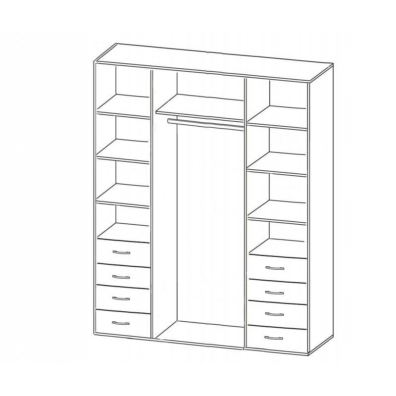 Шкаф распашной РИО-4.5 четырехдверный (фото 2)