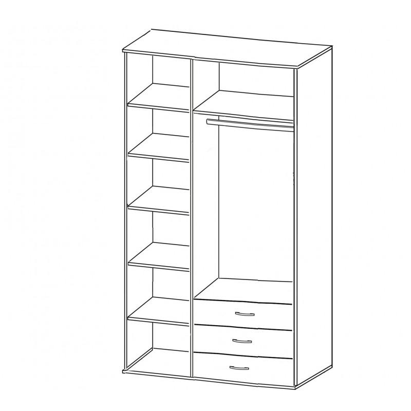 Шкаф распашной РИО-3.8 (фото 2)
