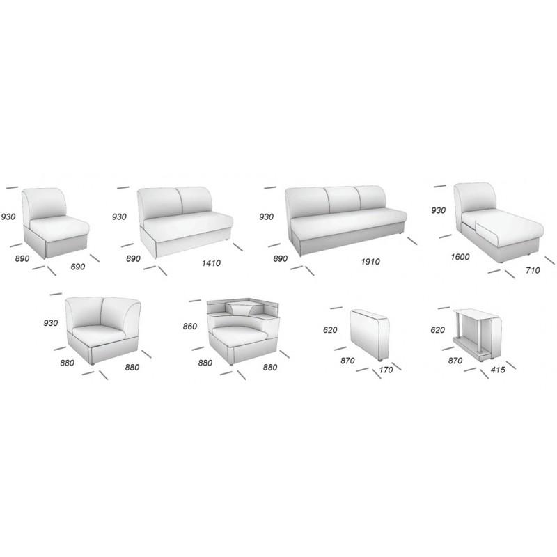 Угловой модульный диван Виза 01 (фото 11)