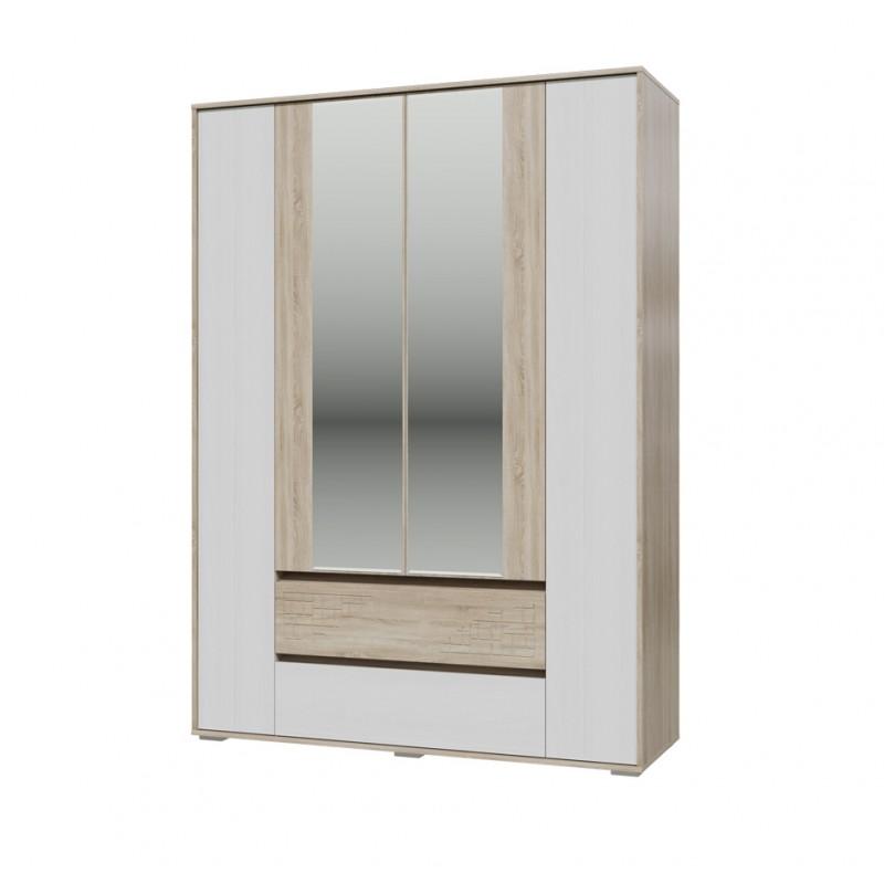 Шкаф 4-х дверный с ящикам Мальта