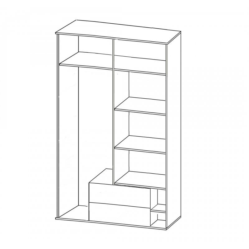 Шкаф 4-х дверный с ящикам Мальта (фото 2)