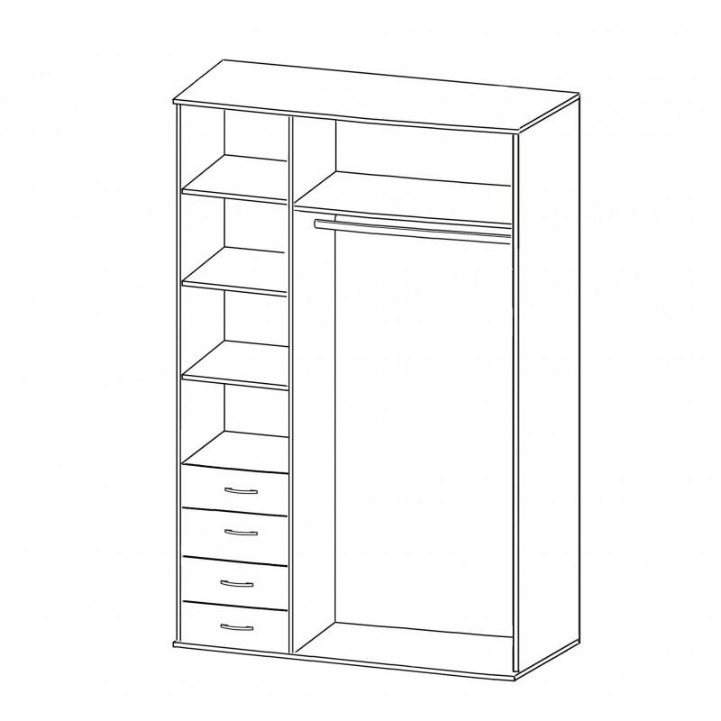 Шкаф распашной РИО-3.5 (фото 2)