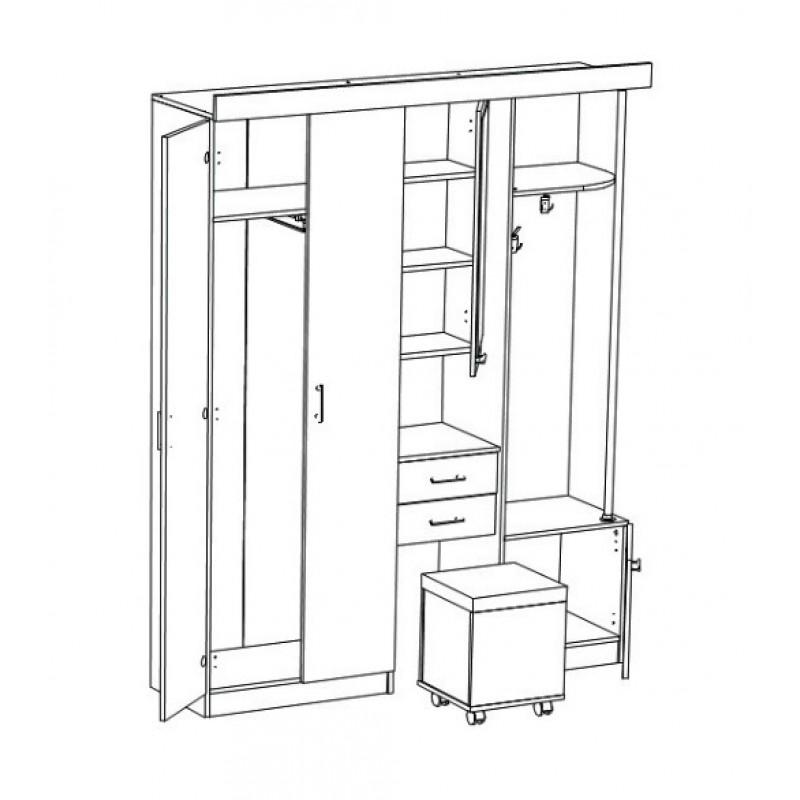 Шкаф комбинированный Дебют-5 (фото 2)