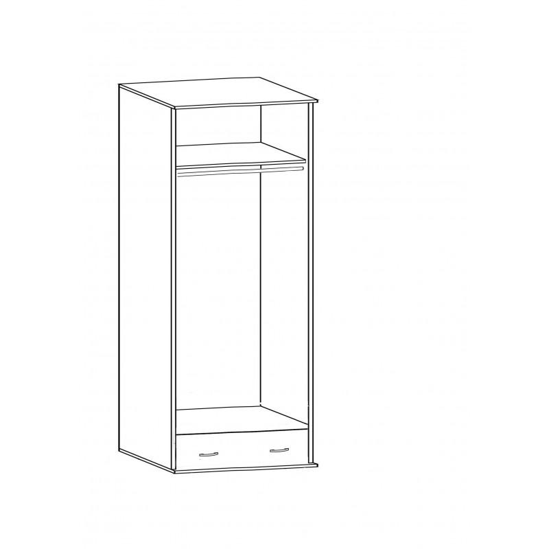 Шкаф распашной РИО-2.2/2.7 двухдверный (фото 4)