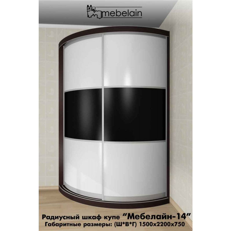 Радиусный шкаф-купе Мебелайн-14 (фото 3)