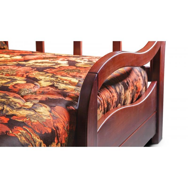 Кресло-кровать Нирвана с деревянными подлокотниками (фото 3)