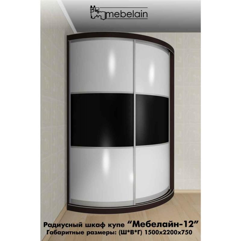 Радиусный шкаф-купе Мебелайн-12 (фото 3)