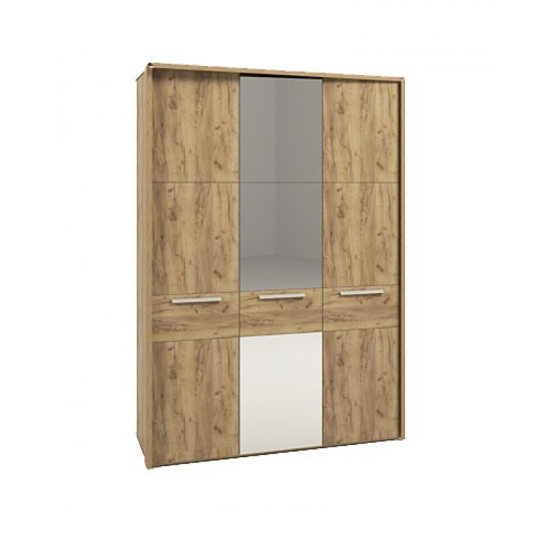 Шкаф 3-х дверный с зеркалом №223 (серия МК 52)