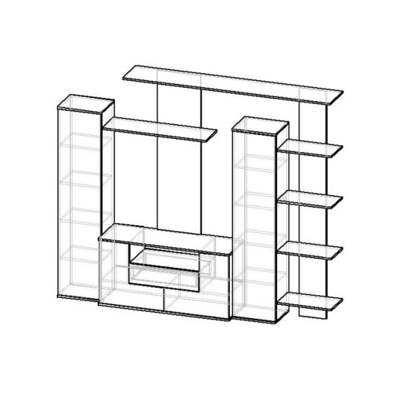 Стенка Мебелайн-2 (фото 2)