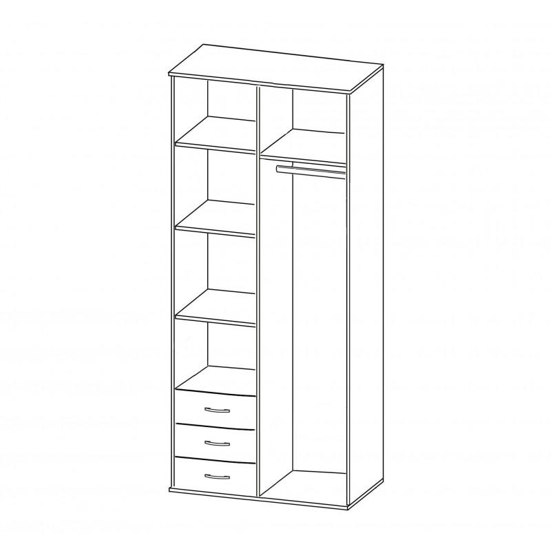 Шкаф распашной РИО-2.14 (фото 2)