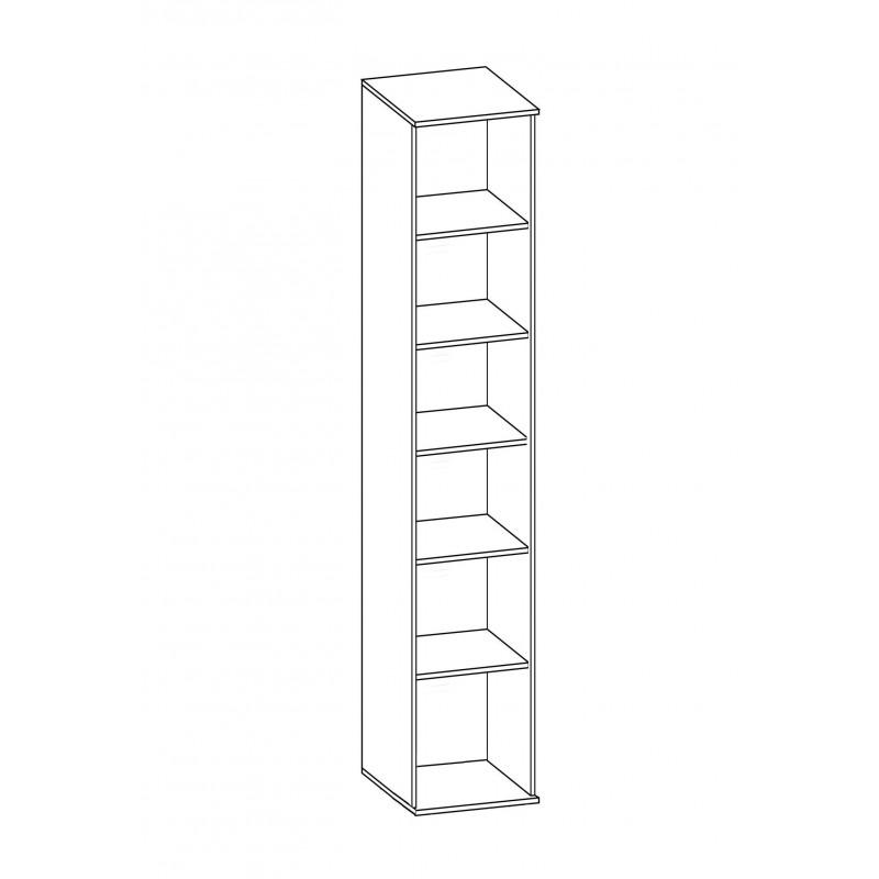 Шкаф для белья №185 (серия МК 48) (фото 2)