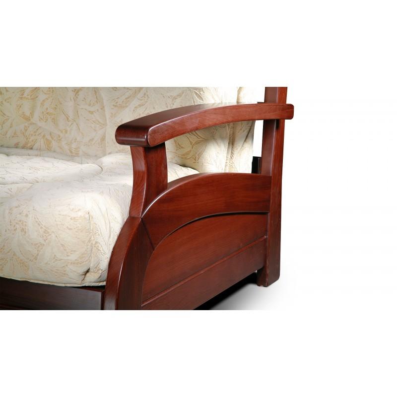 Диван аккордеон Лотос с деревянными подлокотниками (фото 3)