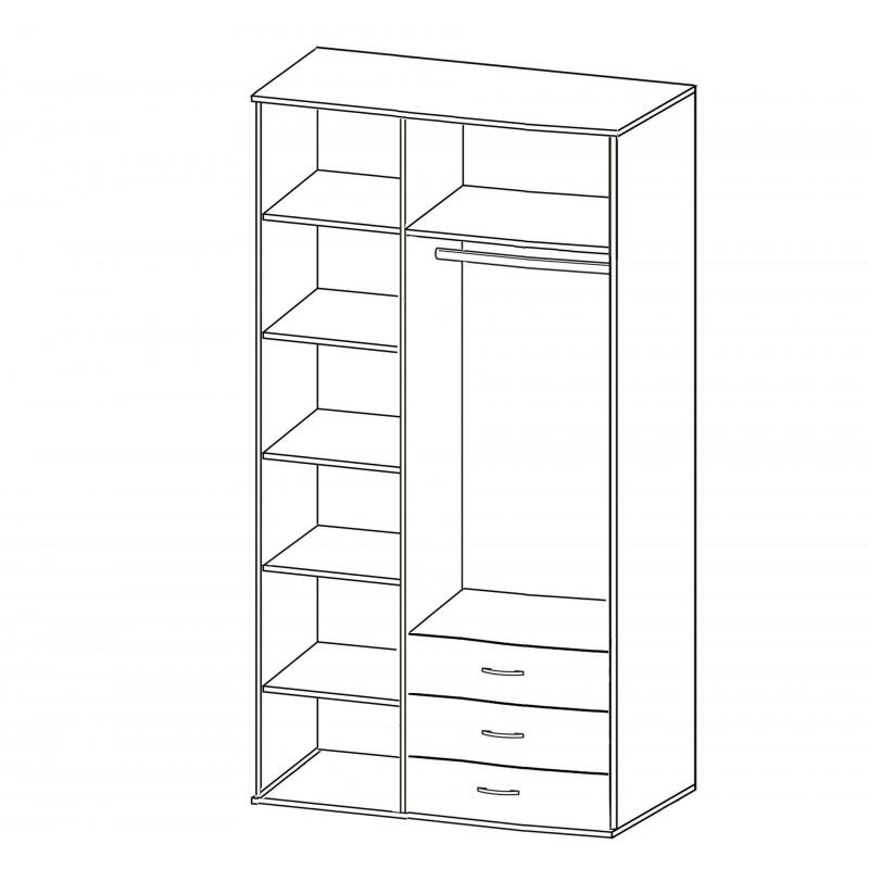 Шкаф Зодиак 3.23 с антресолью (фото 3)