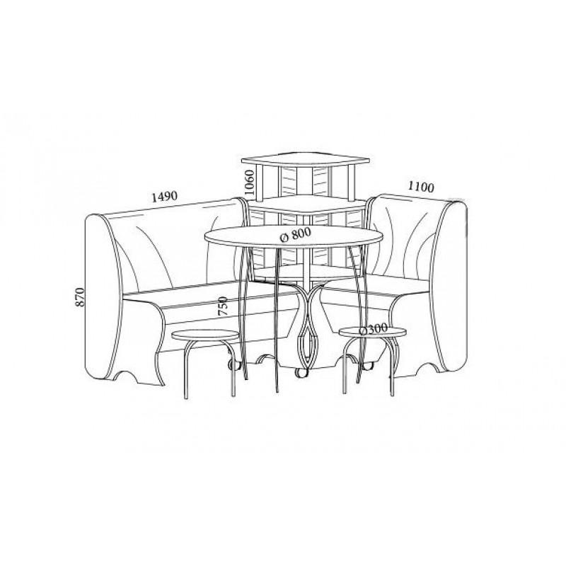 Набор мебели Блюз с круглым столом (фото 2)