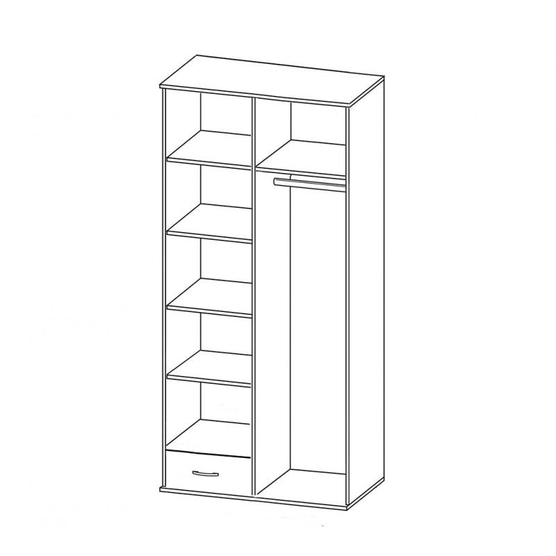 Шкаф распашной РИО-2.12 (фото 3)
