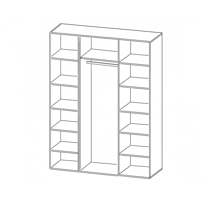 Шкаф распашной РИО-4.1 (фото 2)