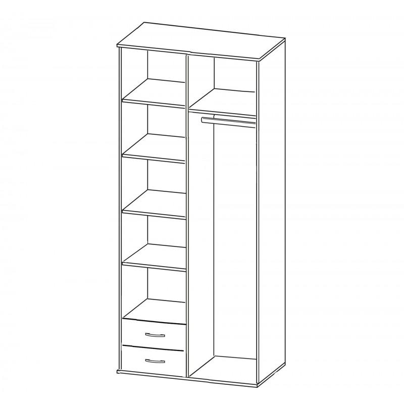 Шкаф распашной РИО-2.13 (фото 3)