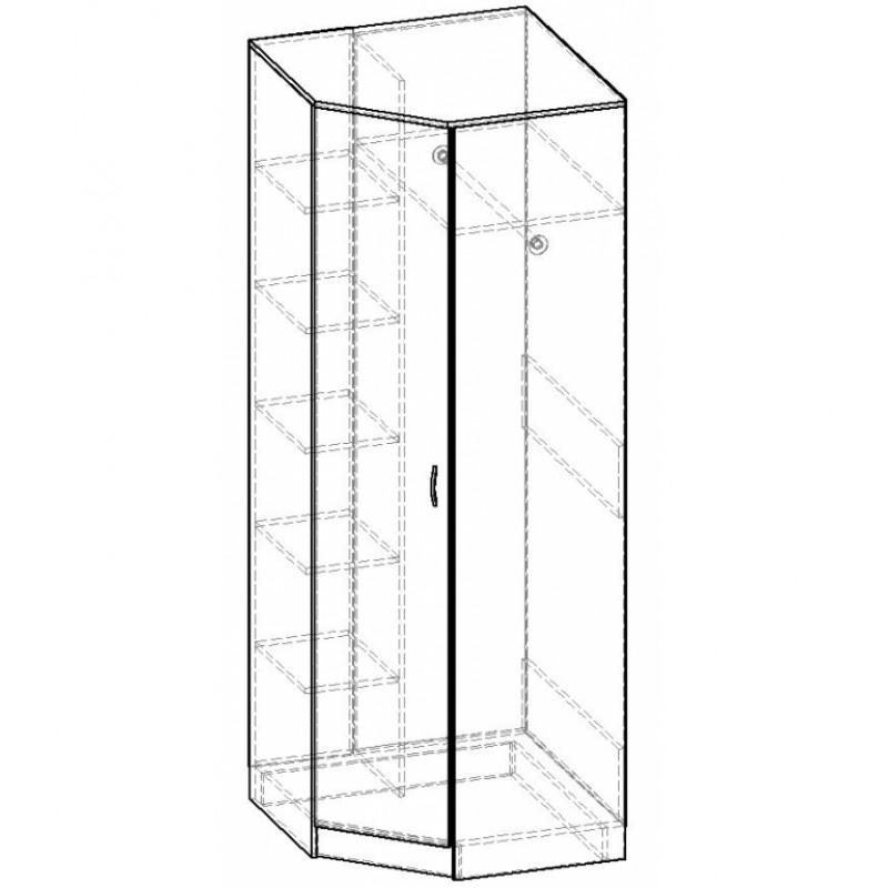 Шкаф Горизонт угловой 1 дверный со штангой (фото 3)