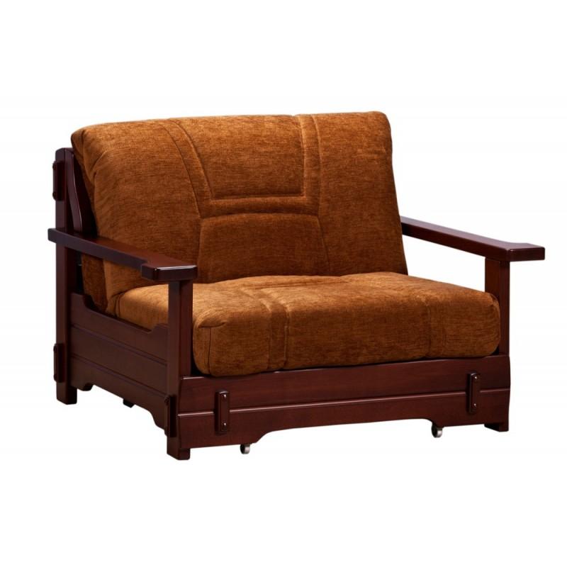 Кресло-кровать аккордеон Брест с деревянными подлокотниками